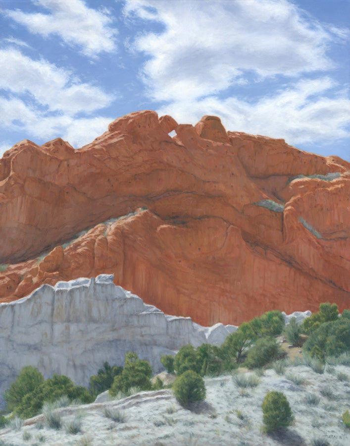 "Chris Hureau, ""Kissing Camels at the Garden of the Gods,"" print"