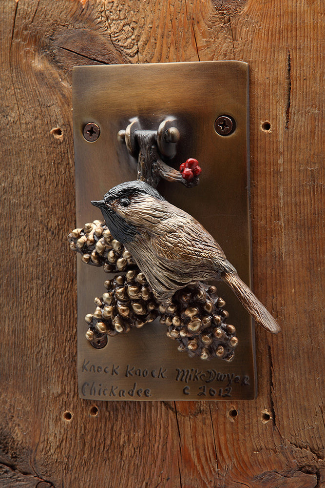 "Mike Dwyer, ""Knock Knock Chickadee,"" Bronze"