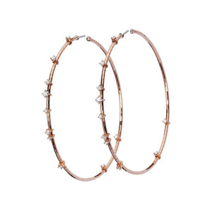 Medium Diamond Hoops