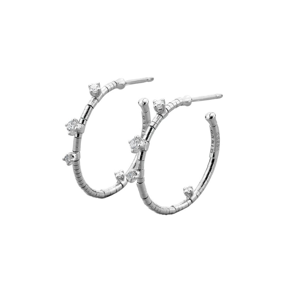 Small White Gold Hoop Earrings