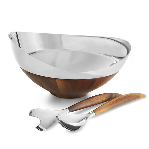 Pulse Salad Bowl and Tongs