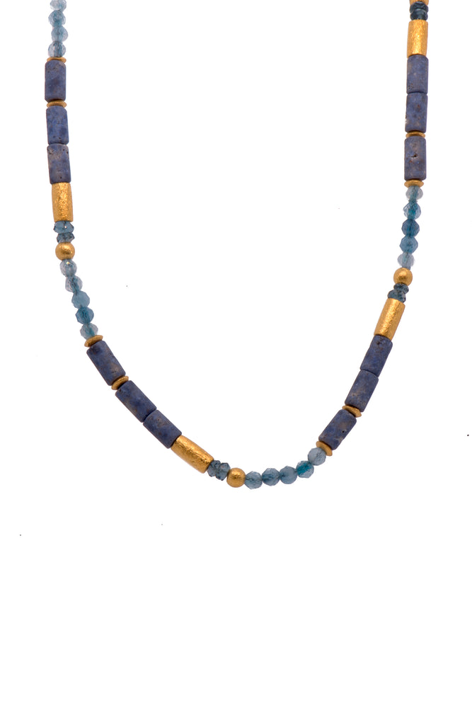 Dumortierite and Mix Gems Necklace