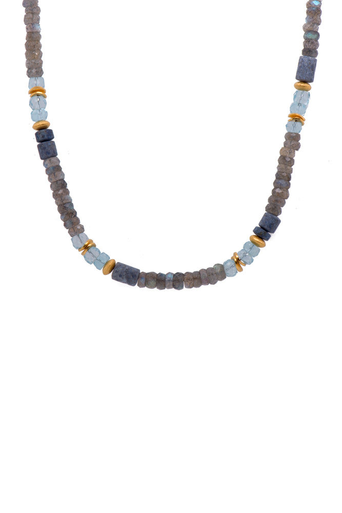 Mix Blue Stone Necklace