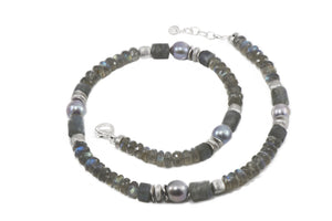 Labradorite and Pearl Necklace