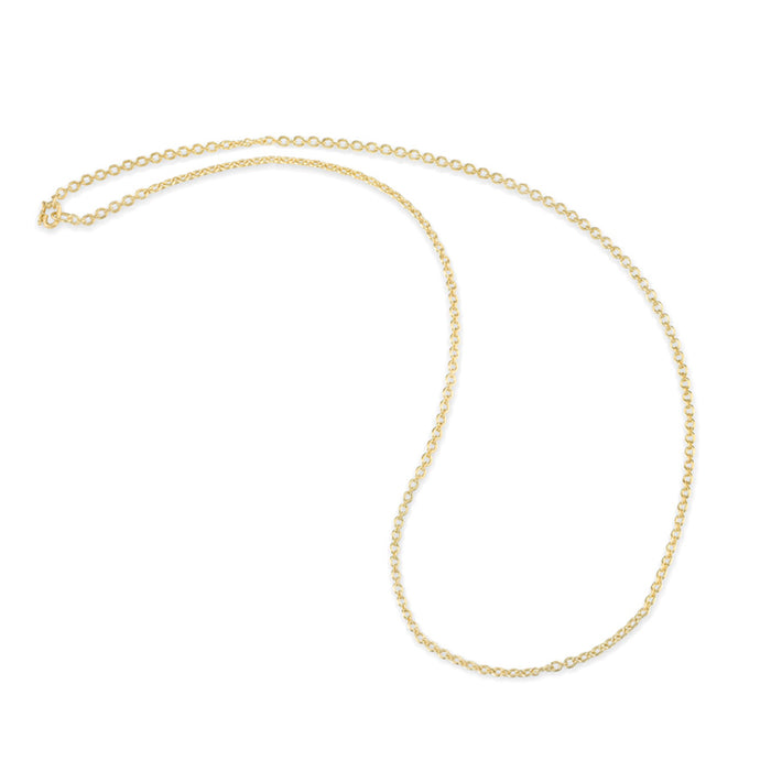 24 Inch Yellow Gold Tiny Oval Chain