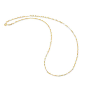 18 Inch Yellow Gold Tiny Oval Chain