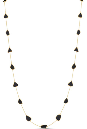 Organic Black Diamond Slice Necklace