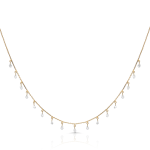 Tresor, Organic Diamond Baroque Necklace