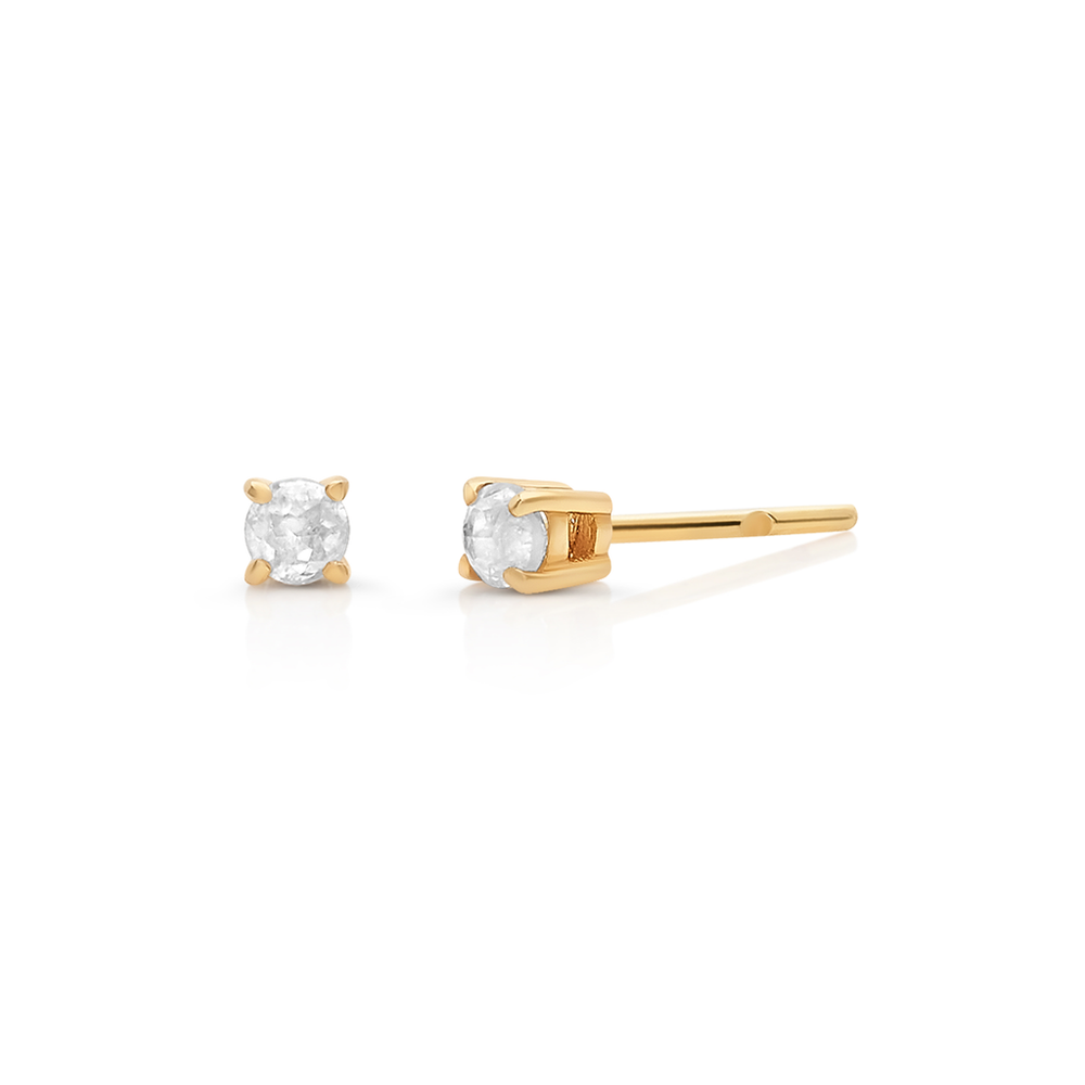 Tresor, Organic Diamond Stud Earrings