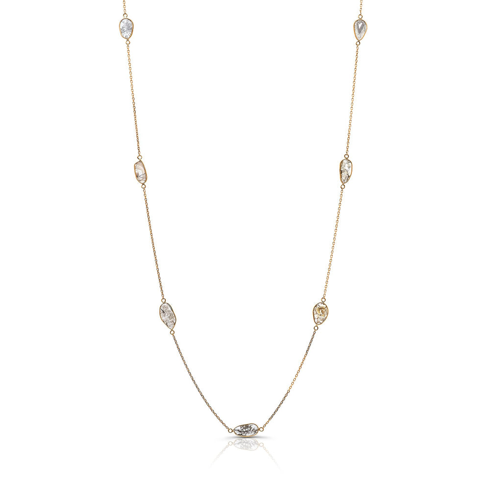 Organic Diamond Slice Necklace