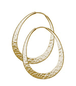 Long Oval Eclipse Gold Hoops