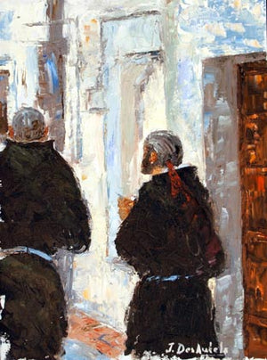 "Jeff Desautels, ""On The Way to Chapel,"" Oil"