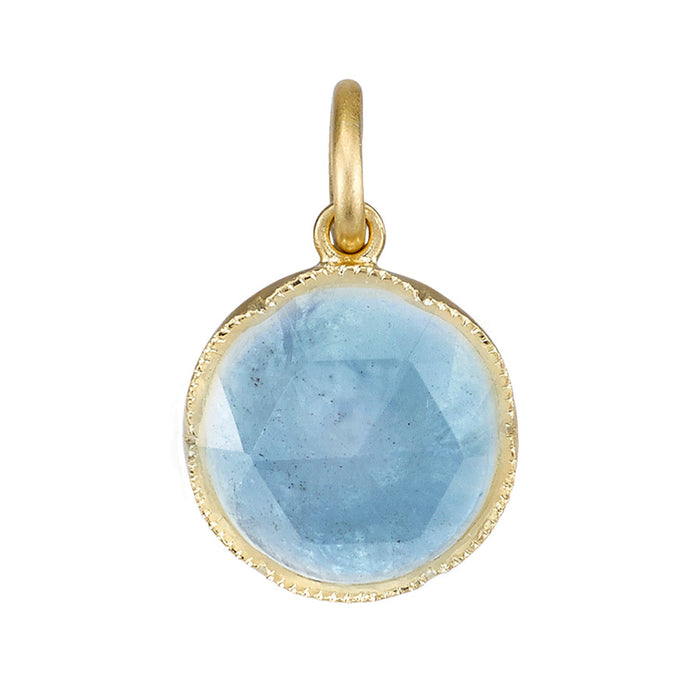 Rose Cut Aquamarine Pendant