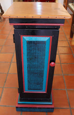David Marsh : Black Pedestal Cabinet