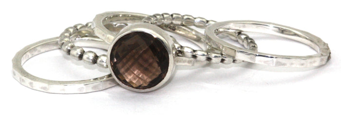 Padma Smoky Quartz Ring Set