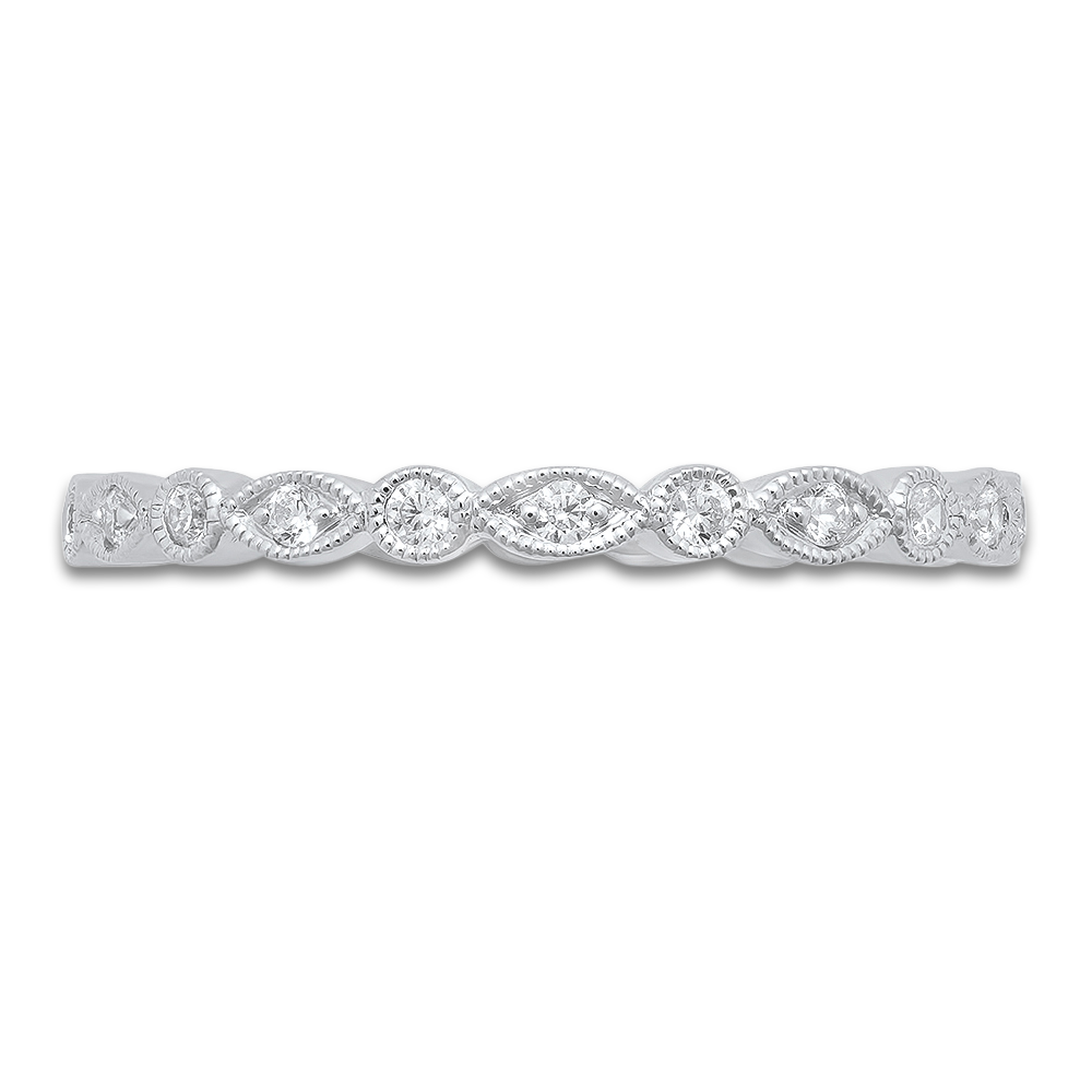 WHITE GOLD MARQUISE STACK-ABLE DIAMOND RING