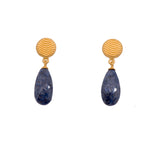 Dumortierite Teardrop Earrings