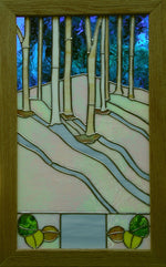 "Bill Simpson, ""Aspens, Winter,"" Stained Glass"