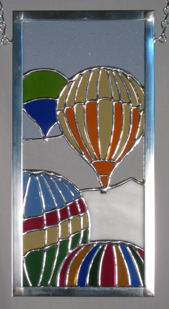 "Bill Simpson, ""Balloons Over the Garden,"" Stained Glass"