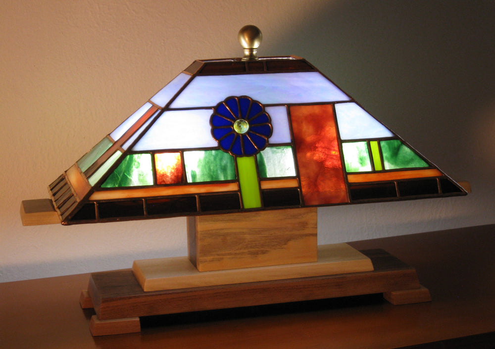 "Bill Simpson, ""Blue Desert Flower,"" Lamp"