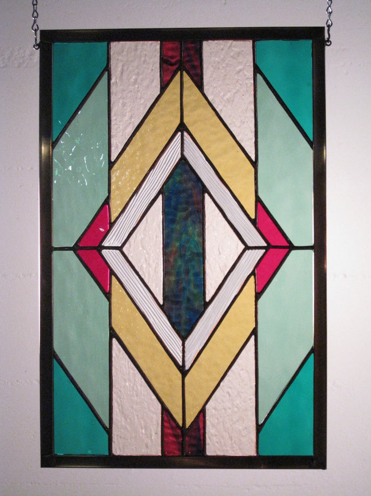 "Bill Simpson, ""Diamonds in a Rug,"" Stained Glass"
