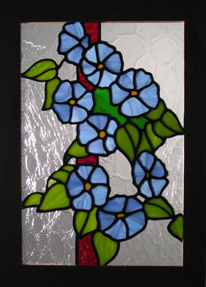 "Bill Simpson, ""Morning Glories,"" Stained Glass"
