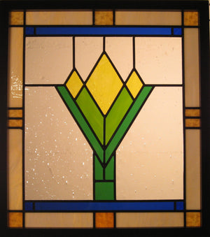 "Bill Simpson, ""Prairie Blossom,"" Stained Glass"