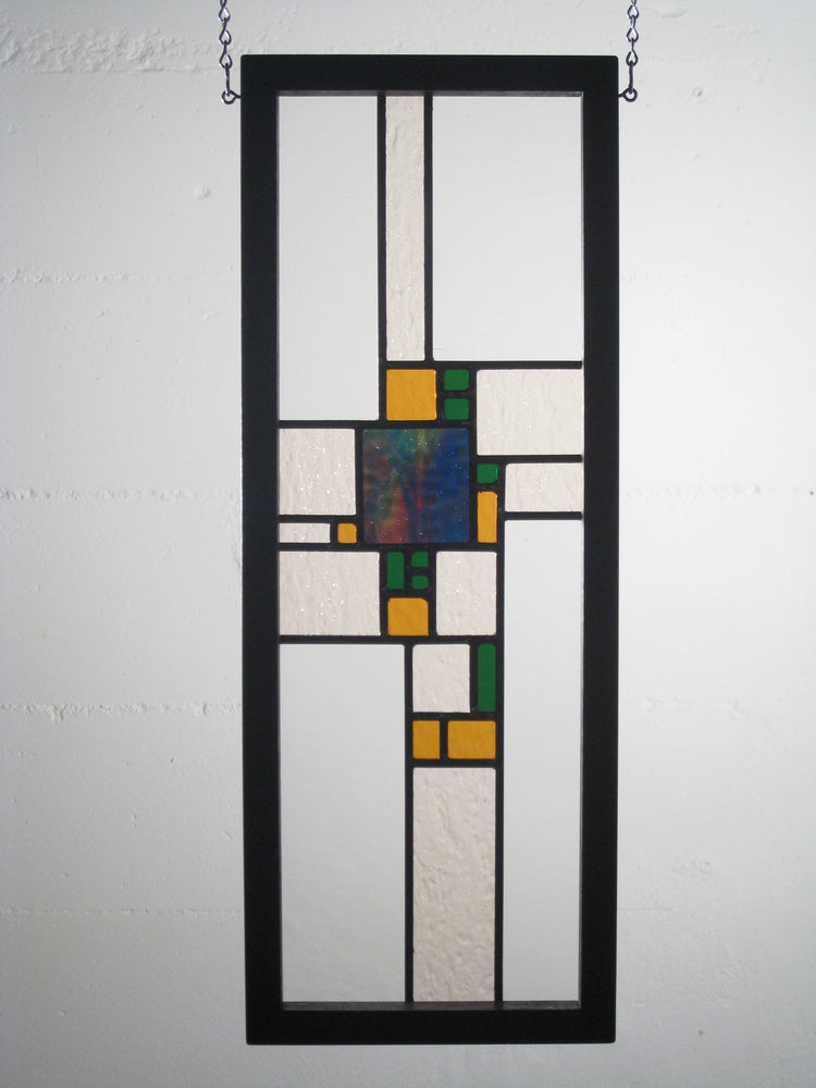 "Bill Simpson, ""Prairie Panel,"" Stained Glass"