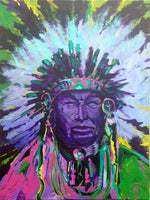 "J.R. Monks, ""Tribute to an Elder,"" Acrylic"