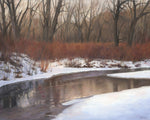 "Chris Hureau, ""Winter Stream,"" Oil"