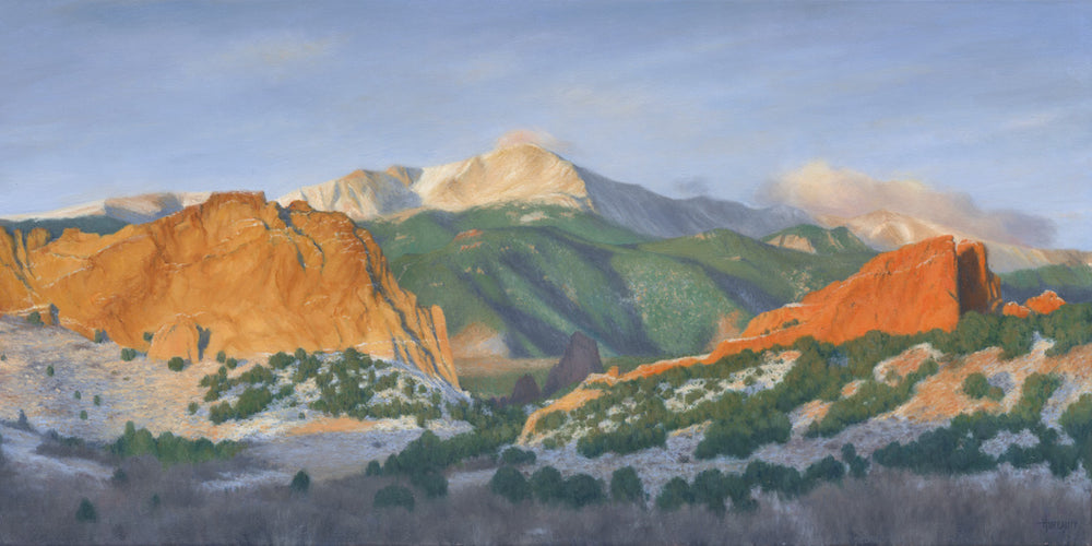 "Chris Hureau, ""Winter Sunrise at the Garden of the Gods,' print"