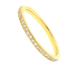 Gold Pave Set Eternity Band