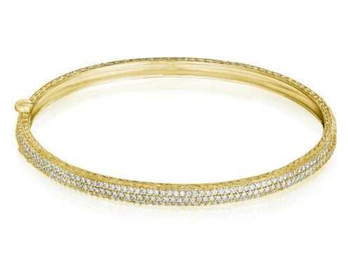 Rounded Diamond Bangle