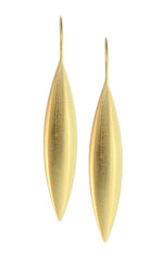 GOLD PLATED LARGE TORPEDO EARRING