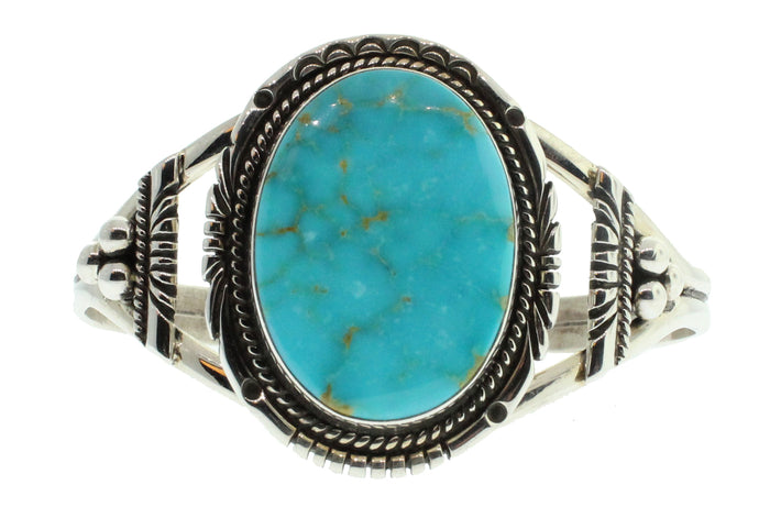 Single Stone Oval Turquoise Cuff