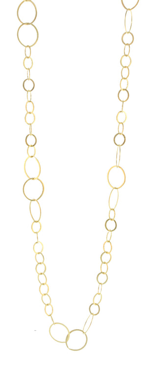 GOLD PLATED SMALL MIXED CIRCLES NECKLACE