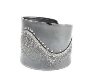 Sweeping Platinum Cuff