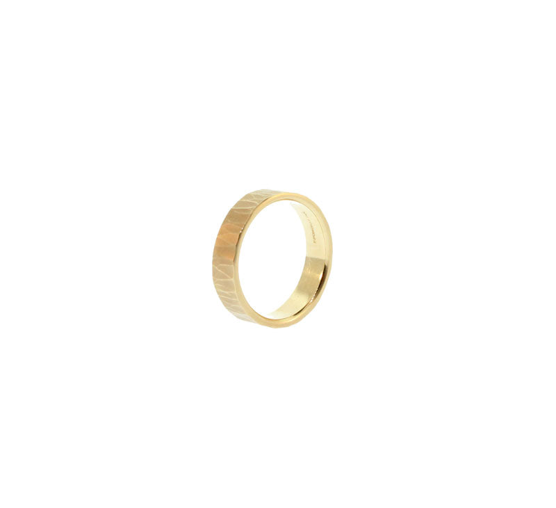 Thin Metolious Gold Ring