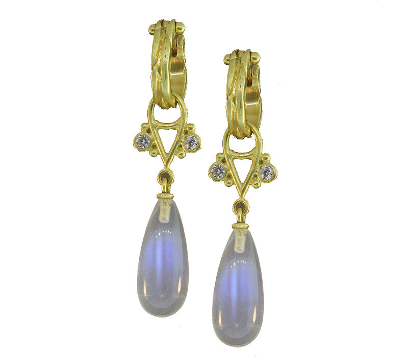 Moonstone And Diamond Gellato Earrings