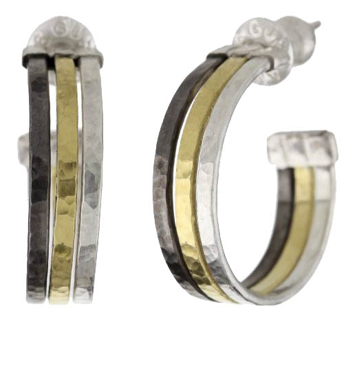 Multi-Metal Hoop Earrings