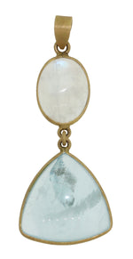 AQUAMARINE AND MOONSTONE PENDANT