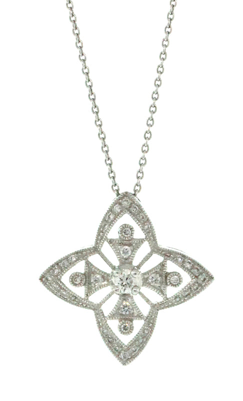 4-Point Star Diamond Necklace