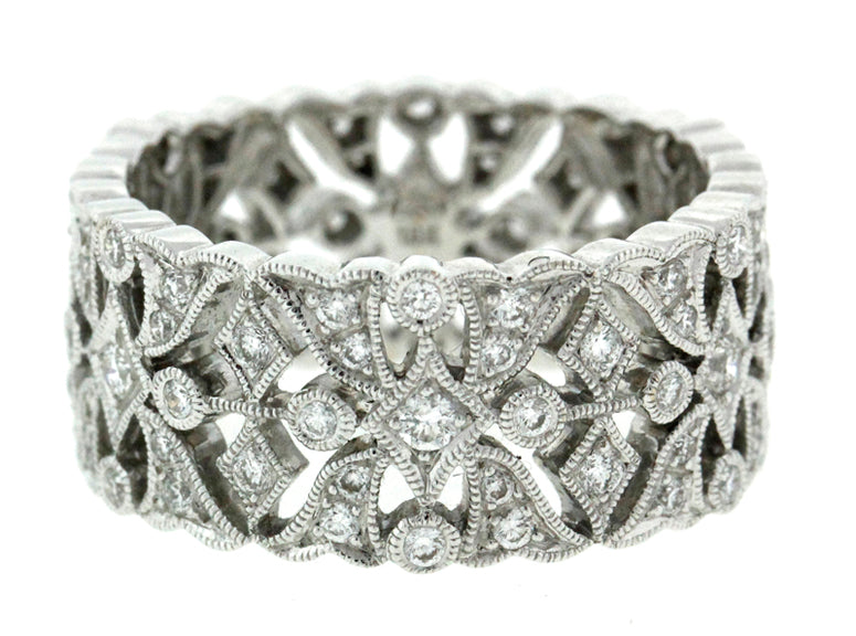 Diamonds and Circles Filigree Band
