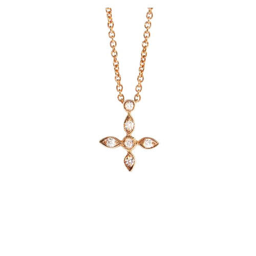 Rose Gold Mini Cross