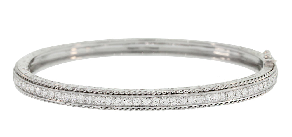 MEDIUM ENGRAVED DIAMOND BANGLE