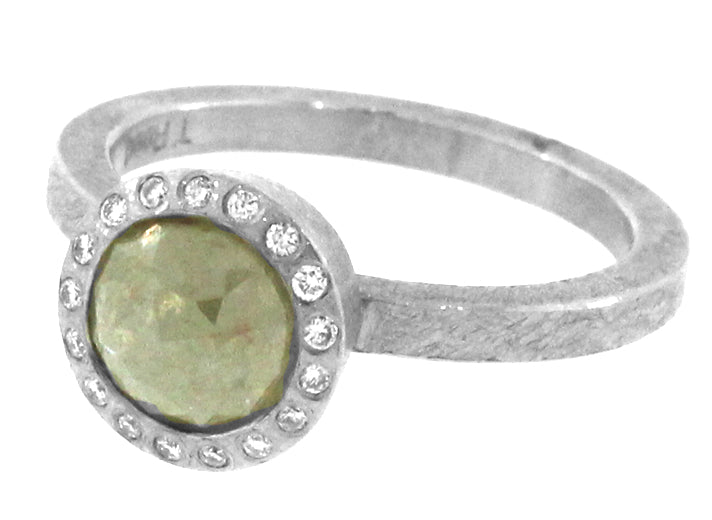 Green Diamond Ring