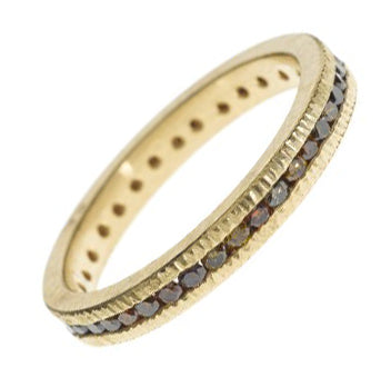 Ribbed Band with Autumn Diamonds