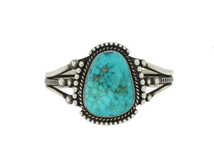Three Band Silver Turquoise Cuff