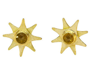 Natural Diamond Star Stud Earrings