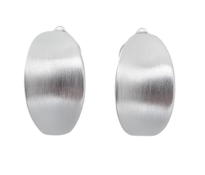 Bowed Oval Clip Earrings